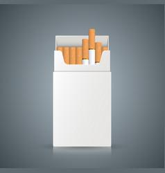 packing of cigarettes on the grey background vector image