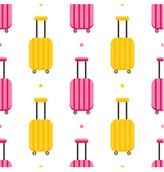 Pattern with colorful luggage suitcases vector