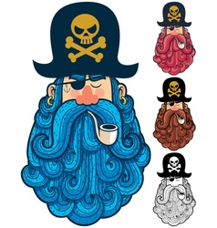 Pirate Portrait 2 vector image vector image