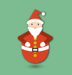 Roly poly toy santa claus flat card for crictmas vector