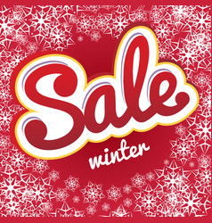 sale snowflake pattern vector image vector image