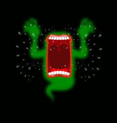 scary ghost shouts horrible wraith frightening vector image vector image