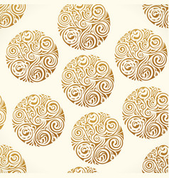 seamless tattoo pattern gold doodle vector image