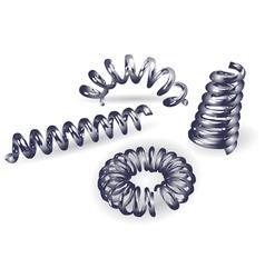 Set of 4 springs vector
