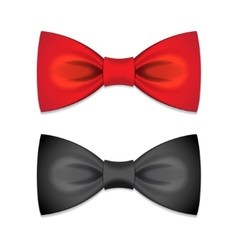 set of bow ties vector image vector image