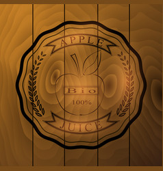 Sticker on the wooden background vector