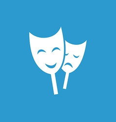Theater icon white on the blue background vector