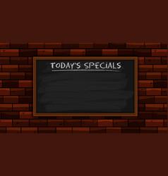 Todays specials on blackboard vector