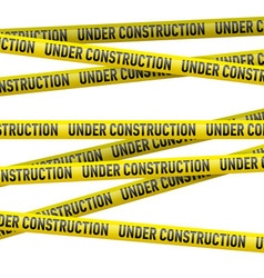 Yellow under construction danger tape vector image vector image