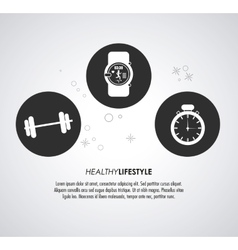 Watch weight and chronometer icon healthy vector
