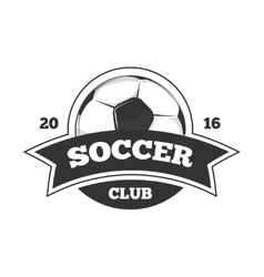 soccer logo badge template isolated in vector image