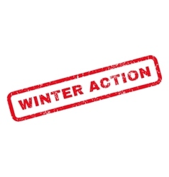 Winter action rubber stamp vector