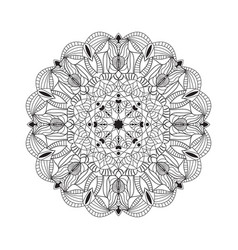 beautiful black mandala for design element vector image