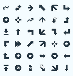 Set of simple indicator icons elements right vector