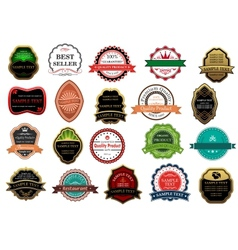 Retail labels and banners vector image