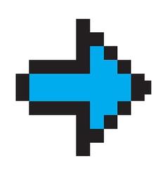 Blue arrow digital vector