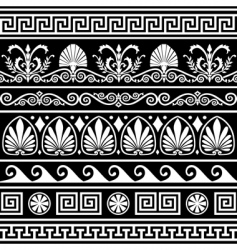 Antique greek border vector