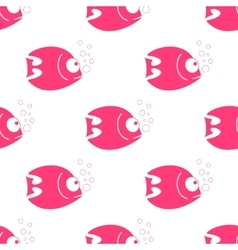 fish seamless pattern Fish background in vector image