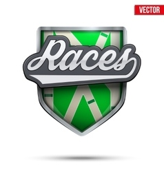 Premium symbol of hippodrome races label vector