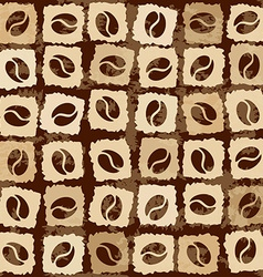 Seamless pattern of coffee beans vector