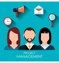Business project management plan vector