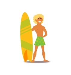 Surfer guy vector