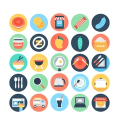Food flat icons 11 vector