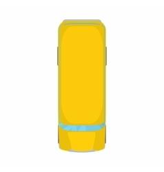 Yellow school bustop view icon cartoon style vector image