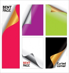 Bent page elements vector