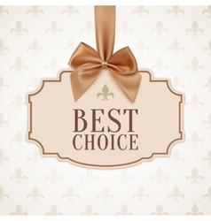 Best choice banner vector