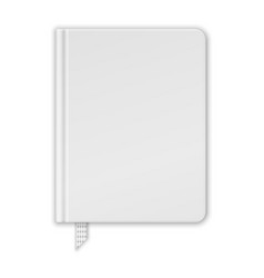 Blank white book or notebook template vector