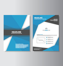 Blue Black brochure flyer leaflet layout design vector image