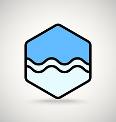 Blue wave interface icon vector image
