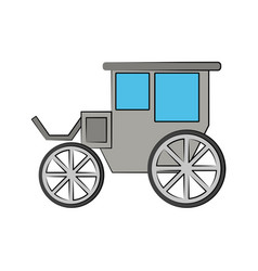 Carriage or chariot icon image vector