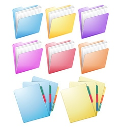 Different design of folders vector image