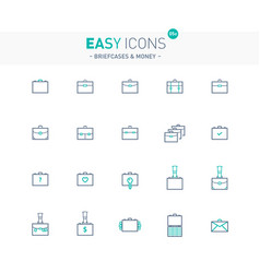 Easy icons 05e briefcases vector