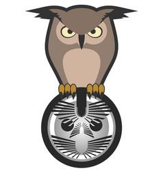 Emblem owl vector