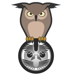 emblem owl vector image vector image