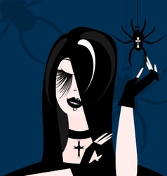Gothic girl vector