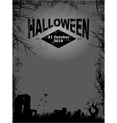 Halloween dark grunge poster vector image vector image