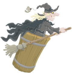 Halloween Witch flying vector image vector image