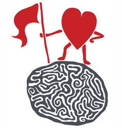 Heart conquers the reason vector