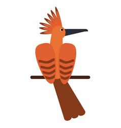 hoopoe bird exotic icon vector image vector image