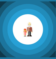 isolated grandchild flat icon grandpa vector image