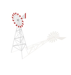 Isometric 3d of farm windmill vector image