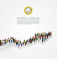 large group people shape arrow vector image