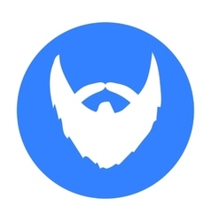 Man s beard icon in black style isolated on white vector