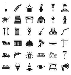 mechanic icons set simple style vector image