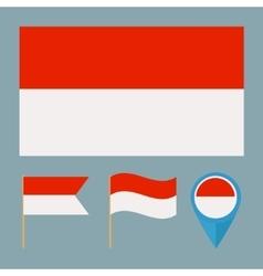Monacocountry flag vector image