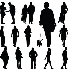 people walk vector image vector image